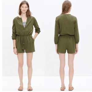 Madewell Green Mallorca Cover-Up Romper - Large